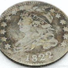 Monedas antiguas de América: RÉPLICA MONEDA 10 CENTS. 1822. ESTADOS UNIDOS DE AMÉRICA. USA. RARA. Lote 153716318