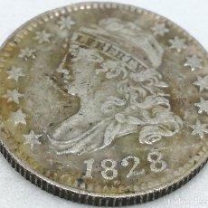 Monedas antiguas de América: RÉPLICA MONEDA 10 CENTS. 1828. ESTADOS UNIDOS DE AMÉRICA. USA. RARA. Lote 153716886
