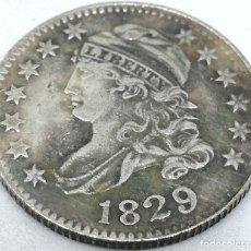 Monedas antiguas de América: RÉPLICA MONEDA 10 CENTS. 1829. ESTADOS UNIDOS DE AMÉRICA. USA. RARA. Lote 153717042
