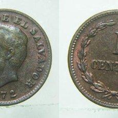 Monedas antiguas de América: MONEDA DE EL SALVADOR 1 CENTAVO 1972. Lote 154573382