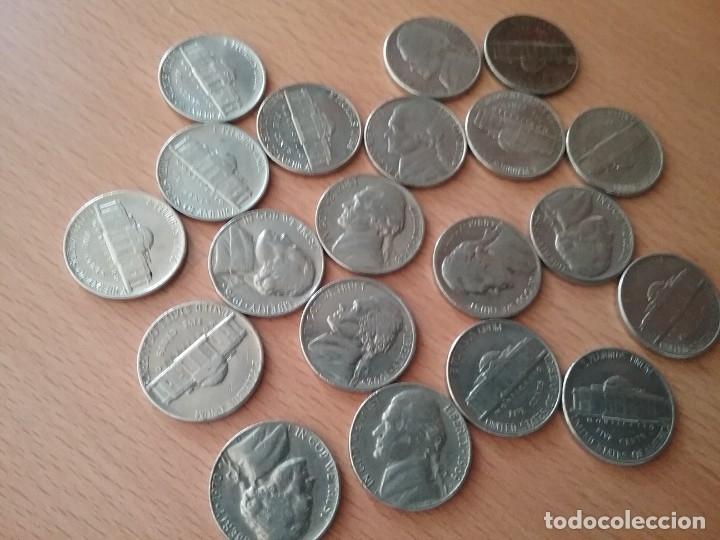 Monedas antiguas de América: Lote de 20 monedas USA five cents - ver descripcion - Foto 4 - 123525539