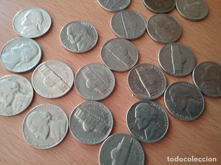 Monedas antiguas de América: Lote de 20 monedas USA five cents - ver descripcion - Foto 5 - 123525539