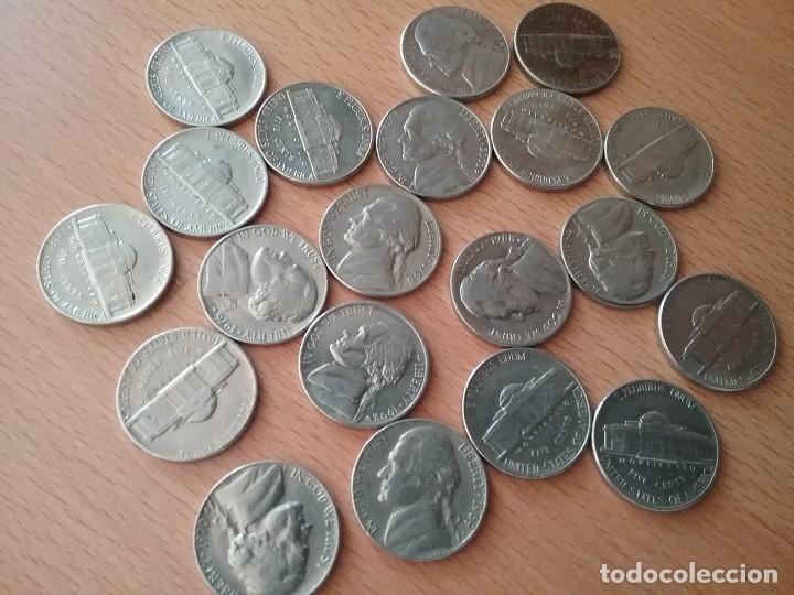 Monedas antiguas de América: Lote de 20 monedas USA five cents - ver descripcion - Foto 6 - 123525539