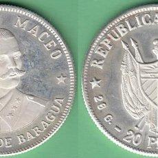 Monedas antiguas de América: 1977-MN-110 CUBA 1977 20 PESOS FINE 925 SILVER PROOF. ANTONIO MACEO. 26 GR UNC.. Lote 154757778