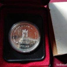 Monedas antiguas de América: CANADA. DOLLAR DE PLATA DE 1977 EN ESTUCHE. 2 DISPONIBLES. Lote 157235705