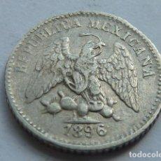 Monedas antiguas de América: MONEDA DE PLATA DE 5 CENTAVOS DE PESO DE MEXICO DE 1896 CECA DE GUANAJUATO, ESCASA. Lote 154992910