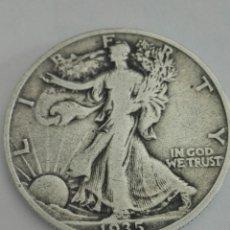 Monedas antiguas de América: MONEDA DE MEDIO (1/2) DÓLAR (LIBERTY ANDANDO) DE ESTADOS UNIDOS DE 1935. PLATA. BC.. Lote 155269817