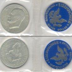 Monedas antiguas de América: EEUU (USA) 1 DOLLAR (DOLAR) PLATA 1971 S CONMEMORATIVA EISENHOWER S/C. Lote 155270806