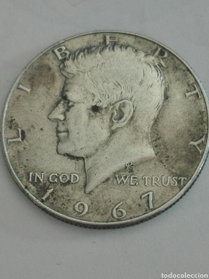 MONEDA DE MEDIO (1/2) DÓLAR (KENNEDY) ESTADOS UNIDOS AÑO 1967. PLATA. BC (Numismática - Extranjeras - América)
