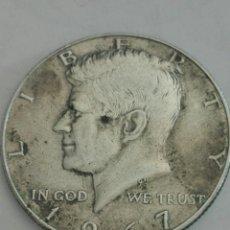 Monedas antiguas de América: MONEDA DE MEDIO (1/2) DÓLAR (KENNEDY) ESTADOS UNIDOS AÑO 1967. PLATA. BC. Lote 155272204