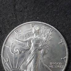 Monedas antiguas de América: 1 DOLAR LIBERTY EAGLE, USA ,1991, 1 ONZA DE PLATA PURA, PROOF. Lote 155296318