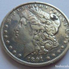 Monedas antiguas de América: MONEDA DE PLATA DE 1 DOLAR MORGAN DE 1891, ESTADOS UNIDOS CECA DE FILADELFIA . Lote 155485286