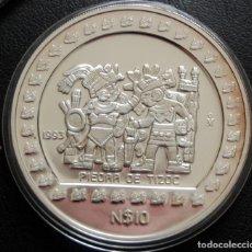 Moedas antigas da América: MÉXICO. 10S PIEDRA DE TIZOC. 5 ONZAS DE PLATA PURA-. . Lote 155739398