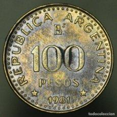 Monedas antiguas de América: 100 PESOS ARGENTINA 1981. Lote 155872194