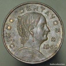 Monedas antiguas de América: 5 CENTAVOS MEXICO 1969. Lote 155872466