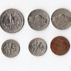 Monedas antiguas de América: COLECCIÓN DE 10 MONEDAS DE ESTADOS UNIDOS USA. ANTIGUAS. . Lote 155891582