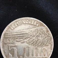 Monedas antiguas de América: MONEDA 5000 REÍS 1936 DE PLATA DEL BRASIL. Lote 155920501
