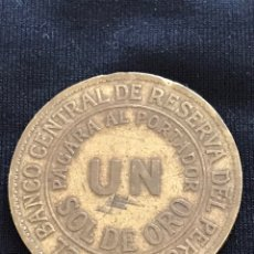 Monedas antiguas de América: MONEDA 1 SOL DE ORO 1963 DEL PERU. Lote 155924962