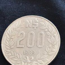 Monedas antiguas de América: MONEDA 200 NUEVOS PESOS 1989 DEL URUGUAY. Lote 155928536