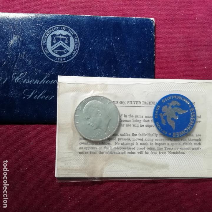 ESTADOS UNIDOS. DOLLAR DE 1971. EISENHOWER. PLATA (Numismática - Extranjeras - América)