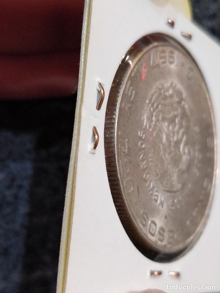 Monedas antiguas de América: Estados Unidos Mexicanos- Cinco Pesos, LEY 720, 1957 - 5 Pesos México Plata - Foto 6 - 156037154