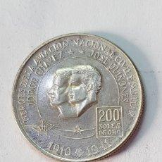 Monedas antiguas de América: PERÚ 1974 -200 SOLES DE ORO- HEROES AVIACIÓN (MD). Lote 156728904