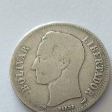 Monedas antiguas de América: VENEZUELA 2 BOLIVARES PLATA 1911. Lote 156852972