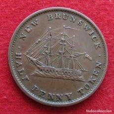 Monedas antiguas de América: NEW BRUNSWICK 1/2 PENNY 1843 VELERO. Lote 156886166