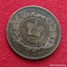 Monedas antiguas de América: NEW BRUNSWICK 1 CENT 1861. Lote 156886322