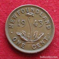 Monedas antiguas de América: NEWFOUNDLAND 1 CENT 1943 TERRANOVA CANADA. Lote 156887686