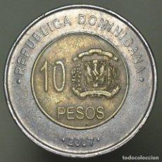 Monedas antiguas de América: 10 PESOS REPUBLICA DOMINICANA 2007. Lote 157082490
