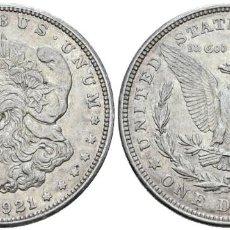 Monedas antiguas de América: *** MUY BONITO 1 DOLLAR 1921, TIPO MORGAN DE ESTADOS UNIDOS. KM#110. PLATA ***. Lote 157802698