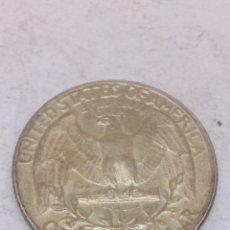 Monedas antiguas de América: MONEDA QUARTER DOLLAR 1964 PLATA. Lote 163659310