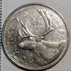 Monedas antiguas de América: MONEDA CANADA. 25 CENTAVOS 1989 . Lote 158722302