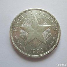 Monedas antiguas de América: CUBA * 1 PESO 1932 * PLATA. Lote 158888390