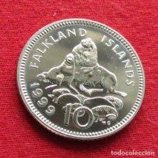 Monedas antiguas de América: FALKLAND MALVINAS 10 PENCE 1999. Lote 159070682