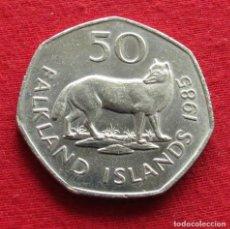 Monedas antiguas de América: FALKLAND MALVINAS 50 PENCE 1985. Lote 159070790
