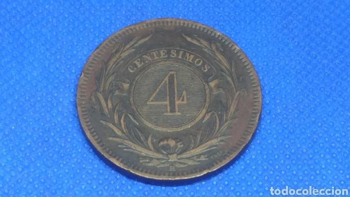 URUGUAY 4 CENTESIMOS 1869 (Numismática - Extranjeras - América)