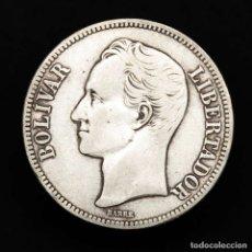 Monedas antiguas de América: VENEZUELA 5 BOLIVARES 1921 PLATA ESTADOS UNIDOS DE VENEZUELA. Lote 159639242