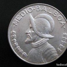 Monedas antiguas de América: PANAMA , 1/2 MEDIO BALBOA PLATA. Lote 159745258