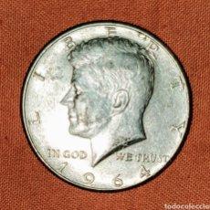 Monedas antiguas de América: HALF DOLAR KENNEDY DE PLATA AÑO 1964. Lote 159994941
