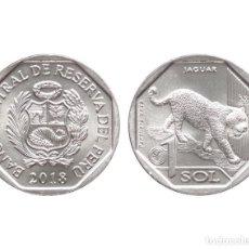 Monedas antiguas de América: PERU 1 SOL JAGUAR 2018 KM NUEVO SC UNC. Lote 160464397