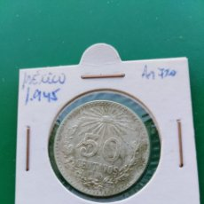 Monedas antiguas de América: MONEDA DE 50 CENTAVOS PLATA MÉXICO 1945. Lote 160481542