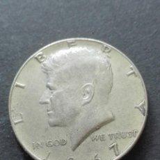Alte Münzen aus Amerika - moneda medio dólar Kennedy 1967 PLATA - 160594242