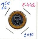 Monedas antiguas de América: MEC 62 - / REPUBLICA DOMINICANA / 5 PESOS 2010 / DO - C.442. Lote 160673934