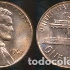 Monedas antiguas de América: ESTADOS UNIDOS 1 CENTAVO, 1967 LINCOLN CENT. Lote 160696966