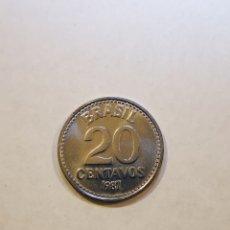Monedas antiguas de América: BRASIL 1987 20 CENTAVOS. Lote 160988514