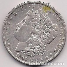 Monedas antiguas de América: ESTADOS UNIDOS 1889 - USA - 1 MORGAN SILVER DOLLAR KM # 110. Lote 161150278