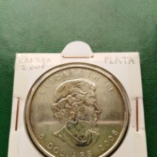 Monedas antiguas de América: MONEDA ONZA DE PLATA CANADA 2008. Lote 161465170
