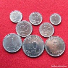 Monedas antiguas de América: BRAZIL BRASIL SERIE 1 5 10 20 50 CENTAVOS 1 5 10 CRUZEIROS 1986 - 1988. Lote 161601646